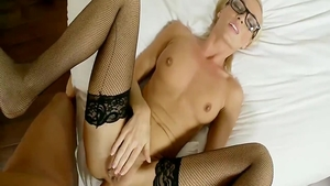 Hard nailining secretary in tight stockings
