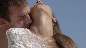 Gorgeous couple loves romantic hard fucking outdoors in HD