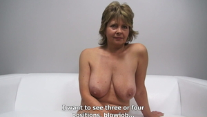 Big boobs MILF got her pussy smashed at the castings
