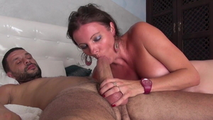 Caroline Tosca gangbang during interview HD