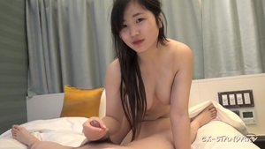 Chubby hairy japanese student cumshot