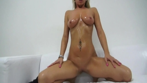 Large boobs czech blonde hair ass licking at casting