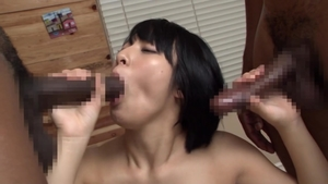 Hairy Miku Abeno censored anal interracial outdoors