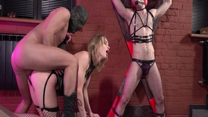 Loren Strawberry in sexy lingerie bondage