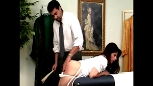 Very sexy mature spanking in the clinic