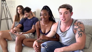 Hard nailining escorted by horny american couple Tindra Frost