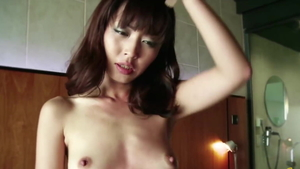 Fingering along with small boobs asian stepmom
