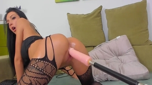 Lustful amateur dildo play