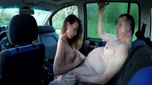 Rough czech masturbation in the street