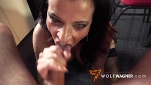Fucking hard in company with big tits deutsch mature