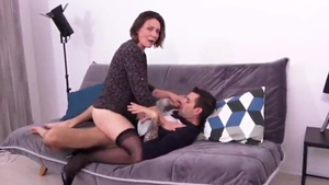 Homemade nailing escorted by mature