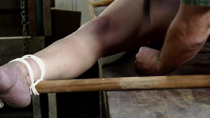 Hogtied starring very small tits european blonde