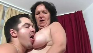 Real Granny Porn - Nailed rough in company with young MILF