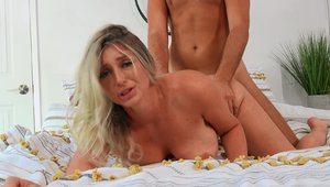 Brazzers Network - Cum in mouth alongside large tits couple