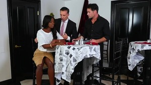 Nailed rough starring hawt ebony supermodel Ana Foxx