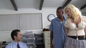 Margo Russo interracial bang in office