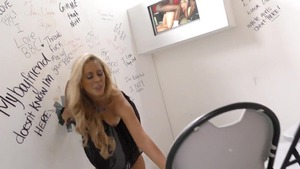 Big boobs blonde gloryhole