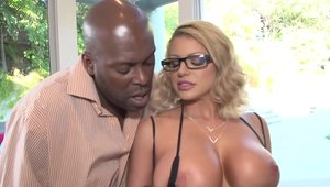 Cory Chase in stockings interracial sex