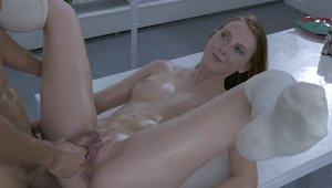 Linda Sweet & Kristof Cale rough reverse cowgirl on the table
