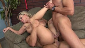 Huge tits stepmom threesome HD