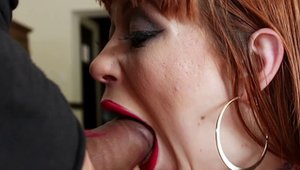 Young redhead enjoys greatly stroking HD