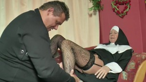 Loud sex together with german nun