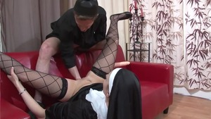 Fisting together with naughty nun