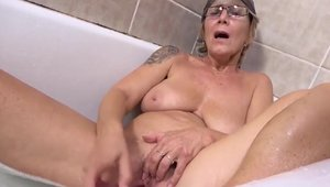 Solo skinny and huge tits granny fetish pissing