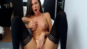 Busty housewife lusts fingering