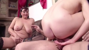 Female Lucy Cat threesome at the casting