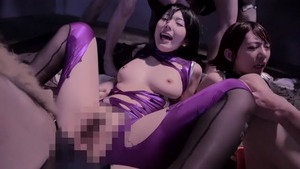 Hairy small tits japanese chick Yui Hatano group sex outdoors