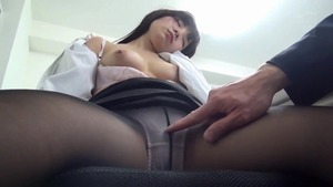 Hairy employee rough does what shes told in office