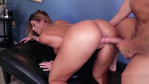 Large tits Brooklyn Chase plus Laz Fyre raw receiving facial