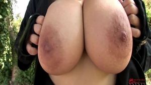 Teasing outdoors large boobs czech Shione Cooper