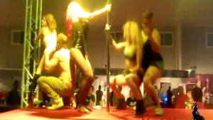 Spanish Sara May group sex in public