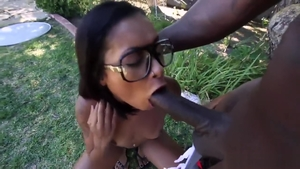 Big ass Skin Diamond sucking cock